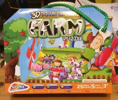 25 pieces 3d on the farm puzzle game fun toy gift present