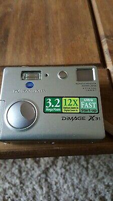 KONICA MINOLTA DIMAGE X31 Camera Silver 3.2mp Optical zoom
