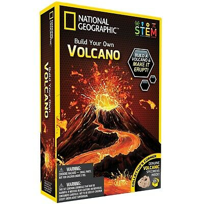 National Geographic Build Your Own Volcano Kit STEM **BRAND