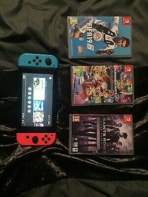Nintendo Switch console bundle 3 Games Case And Carry Case