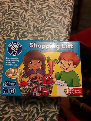 Orchard Toys 003 Shopping List Kids Childrens British Made
