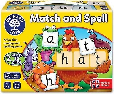 Orchard Toys Match And Spell Game Kids Educational Board