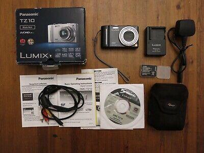 Panasonic LUMIX DMC-TZ10EG-K 12.1MP Digital Camera - Black -