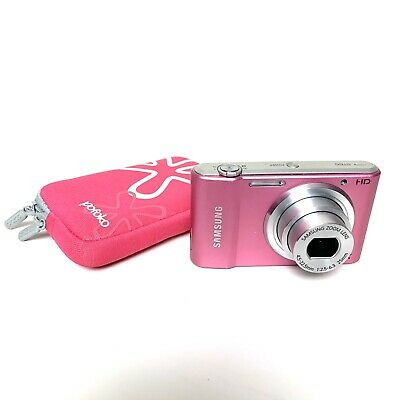 SAMSUNG STMP Pink HD Digital Compact Camera + Pofoko