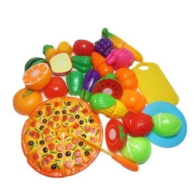 24Pcs Kitchen Cutting Toys Pretend Play Vegetables Food Set