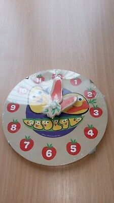BBC Cbeebies My First Wooden Learning Clock. Fun &