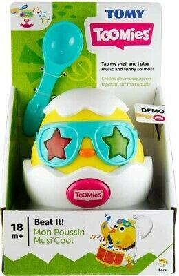 BNIB Tomy Toomies Beat It Musical Chick Baby Toy 18m+