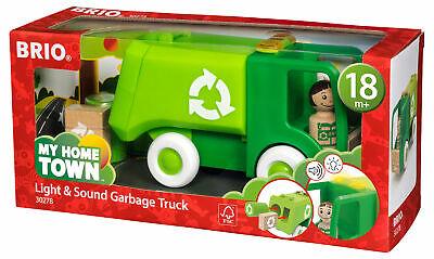 BRIO My Home Town - Garbage Truck Wooden Toy Toddler