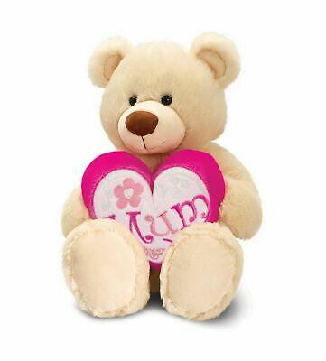 Bear Soft Toy - Mum Pink Heart - Keel - Free Gift Bag -