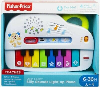 Bnib Fisher Price Silly Sounds Light Up Piano Musical Baby