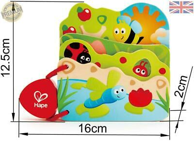 HAPE E Babys Bug Guess Who Book Baby Toddler Wooden Toy