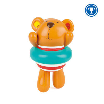 HAPE E Swimmer & Teddy Wind Up Bath Toy Baby Toddler