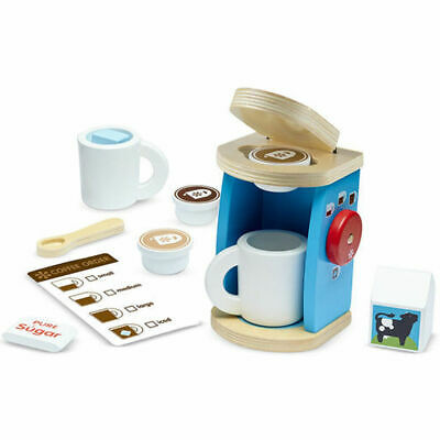MELISSA AND DOUG BREW & SERVE COFFEE SET WOODEN PLAY SET
