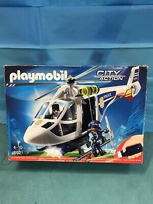 PLAYMOBIL Helicopter  City Action Police Helicopter With