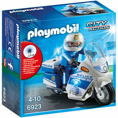PLAYMOBIL Police Bike with LED Light - City