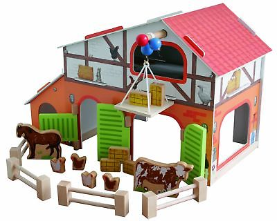 roba Farm 'Farm' Printed Wooden Toy Set with Barn, Stable,