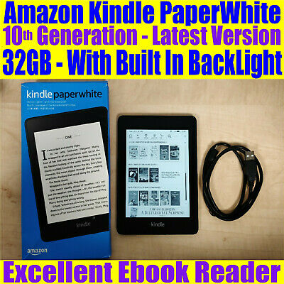 "Amazon Kindle Paperwhite 32GB 6.0"" inch WiFi 10th Generation"