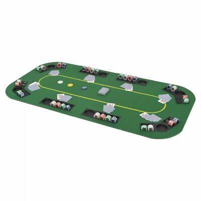 vidaXL 8-Player Folding Poker Tabletop 4 Fold Rectangular