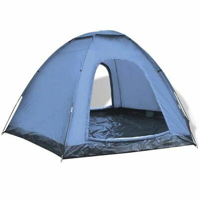 vidaXL 6-Person Tent Blue Outdoor Patio Camping Hiking Sun