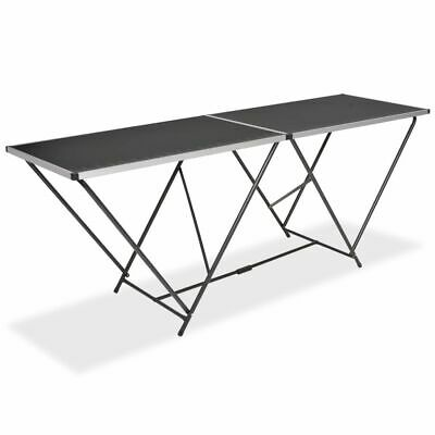 vidaXL Folding Pasting Table MDF and Aluminium 200cm
