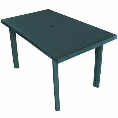vidaXL Garden Table 126x76x72 cm Plastic Green Outdoor