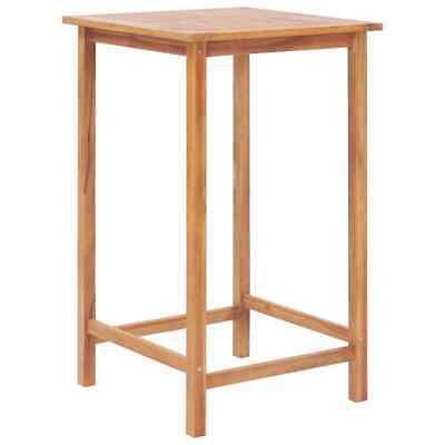 vidaXL Solid Teak Outdoor Bar Table 65x65x110cm Kitchen