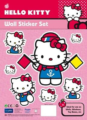 Hello Kitty Collectors Childrens Wall Stickers Set No 7