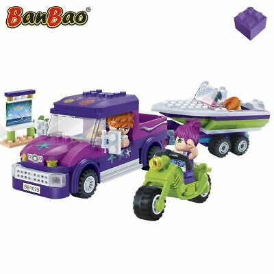 BanBao Beach Trip Children Pretend Building Brick Set