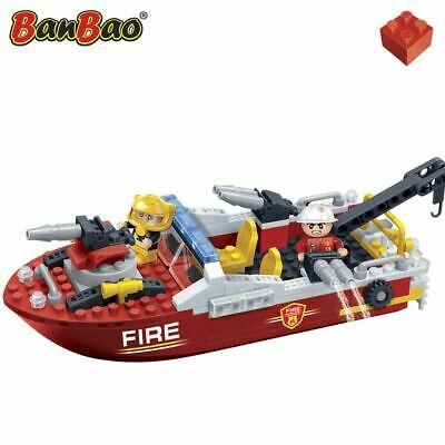 BanBao Fire Brigade Boat Children Building Bricks Toy