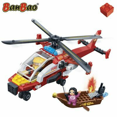 BanBao Fire Brigade Helicopter Children Building Toy