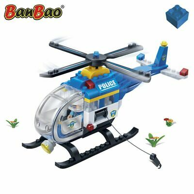 BanBao Police Chopper Children Building Blocks Brick