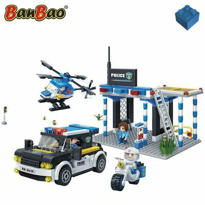 BanBao Police Garage Plane Park  Interlocking Blocks