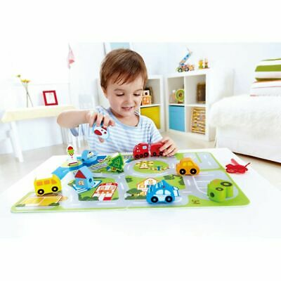 Hape Busy City Play Set with Puzzle Mat Kids Children Toy