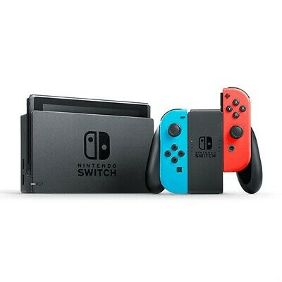 Nintendo Switch Home Console - Neon Red/Blue with Mario Kart