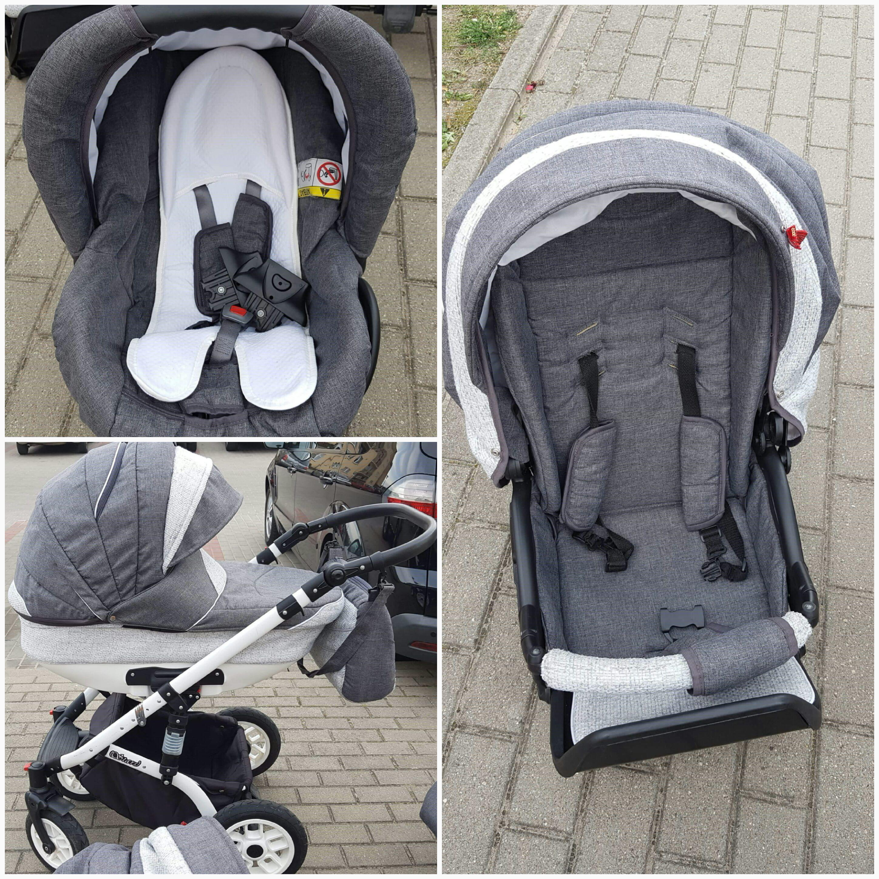 Baby pram 3 in 1 with car seat