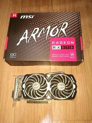 MSI RX 570 ARMOR 8G OC graphics card Radeon RX  GB