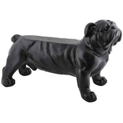 Esschert Design Garden Bench Bulldog Black Outdoor Patio