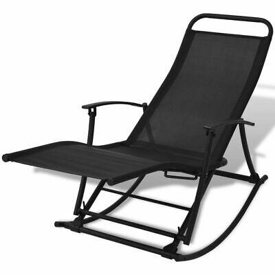 Foldable Reclining Outdoor Garden Patio Rocking Chair Sun