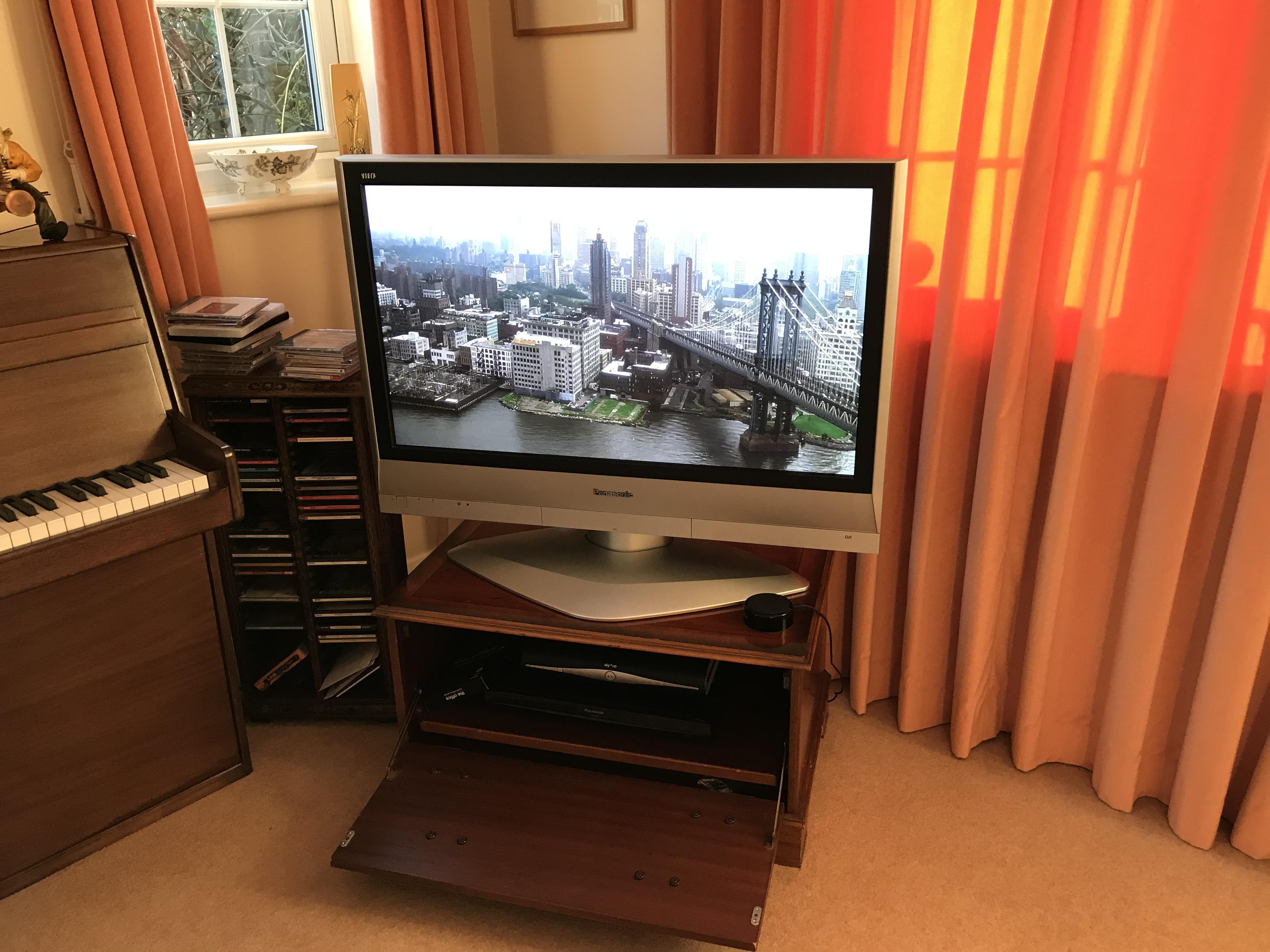 """Panasonic 37"""" TV and Stand"""