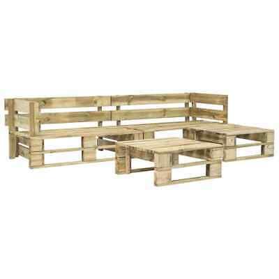 vidaXL 4 Piece Garden Lounge Set Pallets FSC Wood Green