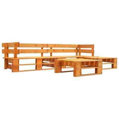 vidaXL 4 Piece Garden Pallet Lounge Set Brown FSC Wood