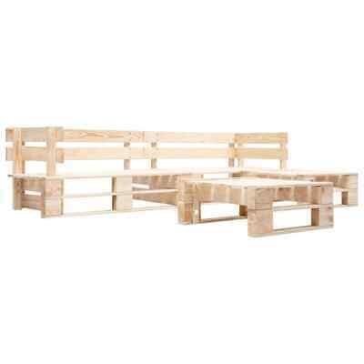 vidaXL 4 Piece Garden Pallet Lounge Set FSC Wood Outdoor