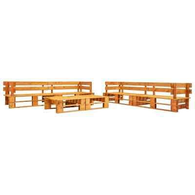 vidaXL 6 Piece Garden Pallet Lounge Set Brown FSC Wood