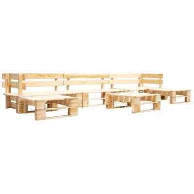 vidaXL 6 Piece Garden Pallet Lounge Set FSC Wood Outdoor