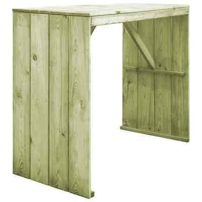 vidaXL Bar Table FSC Impregnated Pinewood 130x60x110cm