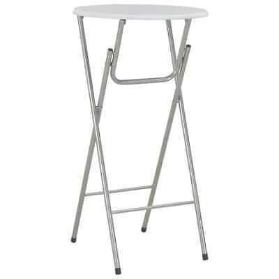 vidaXL Bar Table White 60x112cm MDF Folding Bistro Side