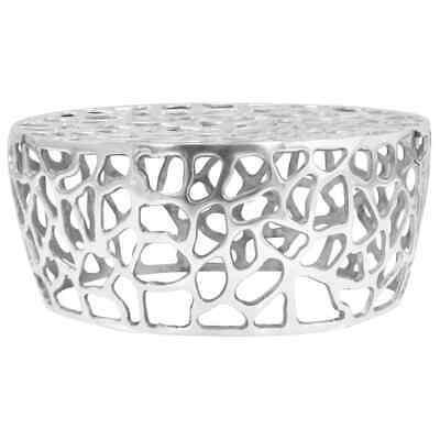 vidaXL Coffee Table Casted Aluminium 70x30cm Silver Living