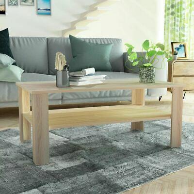 vidaXL Coffee Table Chipboard 100x59x42cm Oak Home Living