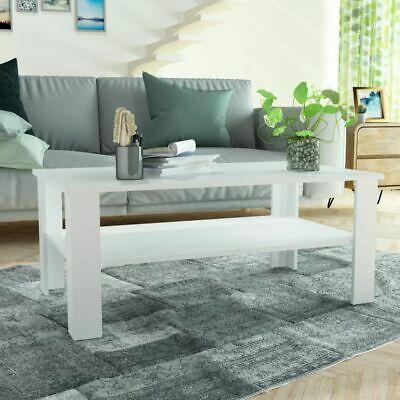 vidaXL Coffee Table Chipboard 100x59x42cm White Home Living
