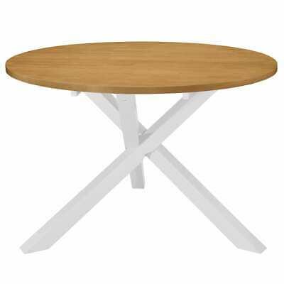 vidaXL Dining Table Brown 120cm MDF Round Home Kitchen